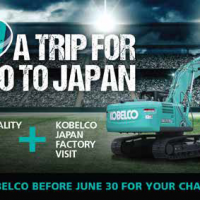 WinAFreeTripWithKobelco! | Earthmoving Equipment Magazine